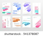 geometric background template... | Shutterstock .eps vector #541378087