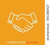 line icon    handshake | Shutterstock .eps vector #541380427