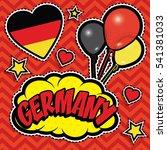 happy birthday germany   pop... | Shutterstock .eps vector #541381033