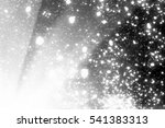 snowflakes sun rays  bokeh or... | Shutterstock . vector #541383313