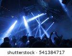 blurry night club dj party...   Shutterstock . vector #541384717