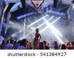 blurry night club dj party... | Shutterstock . vector #541384927