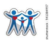 family silhouette health care... | Shutterstock .eps vector #541384957