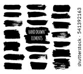 vector set of grunge hand drawn ... | Shutterstock .eps vector #541392163