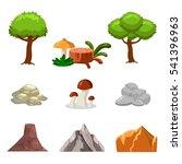 cartoon nature landscape... | Shutterstock .eps vector #541396963