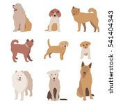 set of dog character... | Shutterstock . vector #541404343