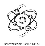 molecule structure isolated... | Shutterstock .eps vector #541413163