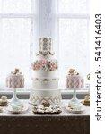 Luxurious Wedding Cake And...