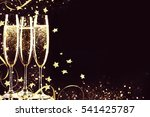 glasses with champagne. new... | Shutterstock . vector #541425787