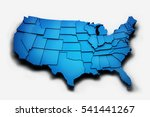 usa raised states. 3d rendering ... | Shutterstock . vector #541441267