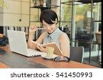 asian beautiful woman working... | Shutterstock . vector #541450993