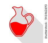 amphora sign. red icon with...