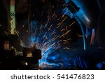 worker with protective mask... | Shutterstock . vector #541476823