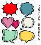 hand drawn bubble speech ... | Shutterstock .eps vector #541491577