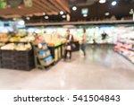 abstract blur in supermarket...   Shutterstock . vector #541504843