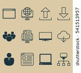 set of 12 world wide web icons. ...