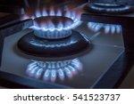 burning gas stove hob blue...   Shutterstock . vector #541523737