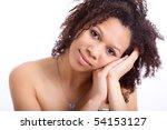 beautiful african american girl | Shutterstock . vector #54153127
