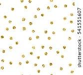 pattern with gold glitter polka ...   Shutterstock . vector #541551607