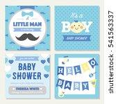 baby shower boy invitation... | Shutterstock .eps vector #541563337