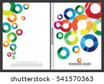 annual report cover design | Shutterstock .eps vector #541570363
