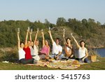 people groups picnic | Shutterstock . vector #5415763
