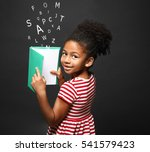 african american little girl... | Shutterstock . vector #541579423