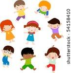 children position | Shutterstock .eps vector #54158410
