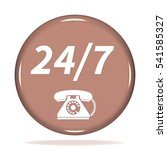 24 7 support phone icon.... | Shutterstock . vector #541585327