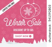 winter sale social network... | Shutterstock .eps vector #541592803