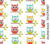 vector seamless pattern on the... | Shutterstock .eps vector #541593487