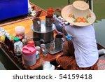 floating market  ayuthaya... | Shutterstock . vector #54159418