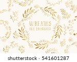 Golden wreaths. Vector illustration