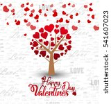 happy valentines day card. love ... | Shutterstock .eps vector #541607023