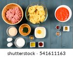 food ingredients for harissa... | Shutterstock . vector #541611163