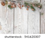 christmas decoration on wood... | Shutterstock . vector #541620307