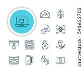 vector illustration of 12 web... | Shutterstock .eps vector #541623703
