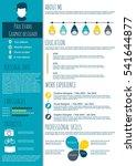 resume in flat style design on...   Shutterstock .eps vector #541644877