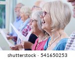 group of seniors singing in... | Shutterstock . vector #541650253