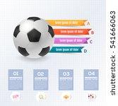 football ball infographics...   Shutterstock .eps vector #541666063