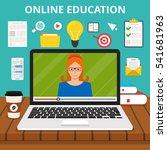 training  education  online... | Shutterstock .eps vector #541681963