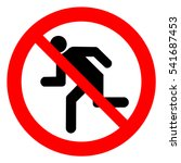 do not run  prohibition sign.... | Shutterstock .eps vector #541687453