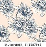 black and white seamless sample ... | Shutterstock . vector #541687963