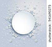 winter snowflakes frame | Shutterstock .eps vector #541690273