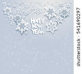 winter snow card | Shutterstock .eps vector #541690297