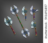 cartoon set of colorful axes...