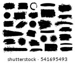 vector set of grunge artistic... | Shutterstock .eps vector #541695493