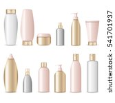 realistic cosmetic bottles on... | Shutterstock .eps vector #541701937