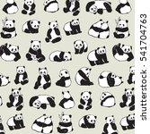 panda animal pattern | Shutterstock .eps vector #541704763