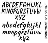 handwritten script font. hand... | Shutterstock .eps vector #541721407